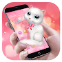 Cartoon Theme - Pink Kitty APK icon