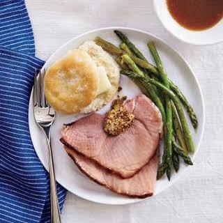 Maple Mustard-Glazed Ham.