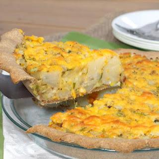 Homity Pie (British Cheesy Potato Leek Pie).