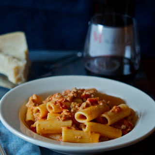 Rigatoni with Sausage Sauce