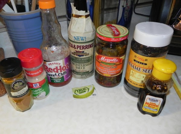Gather your marinade ingredients
