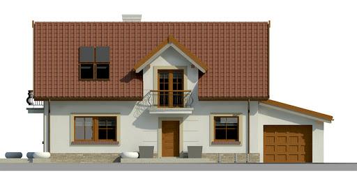 Dom przy Alabastrowej 18 - Elewacja przednia