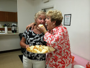 Photo: Donna and Judy were REALLY hungary from the looks of things :).