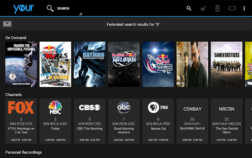 YourTV- screenshot thumbnail