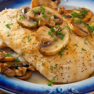Chicken Breasts With Mushrooms.