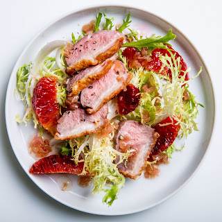 Seared Duck Breasts with Blood Oranges.