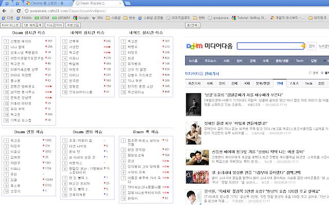 Daum 이슈&뉴스 확장프로그램