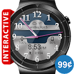 Brushed Chrome HD Watch Face & Clock Widget Icon