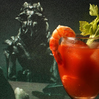 Bloody Mary with Pickled Prawns