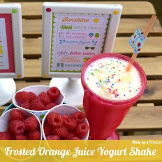 Frosted Orange Juice Yogurt Shake.