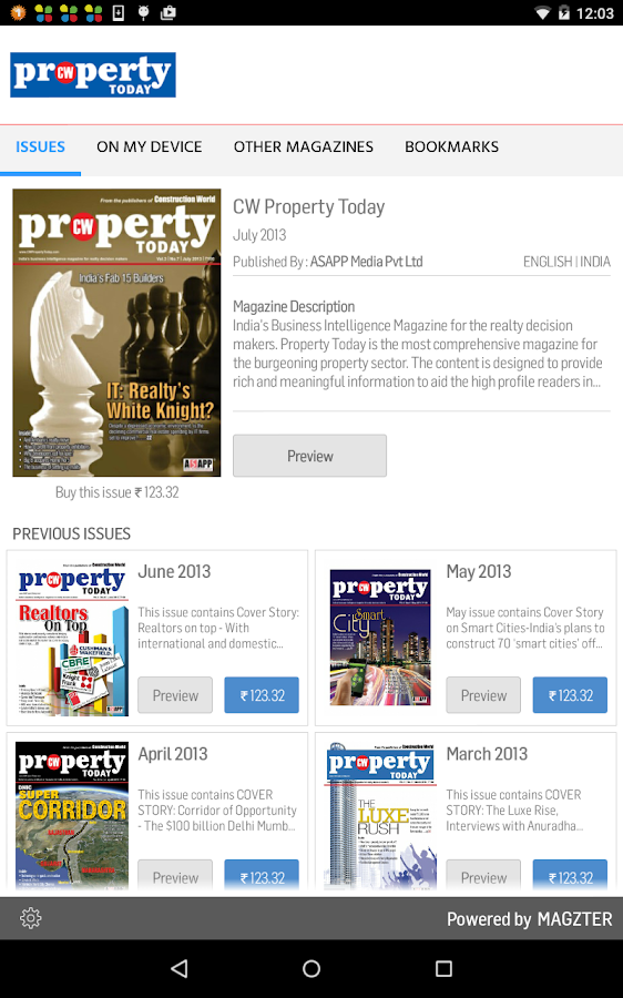 CW Property Today - screenshot