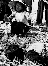 Photo: ca. 1966, Vietnam --- Fifteen civilians died in the explosion of a homemade Viet Cong mine on a country road in Tuy Hoa. Most of the victims were riding in a Lambretta Tricycle which struck the mine and was ripped apart by the blast. One woman mourns for one of the victims, ca. 1966. | Location: Tuy Hoa, South Vietnam.  --- Image by © CORBIS
