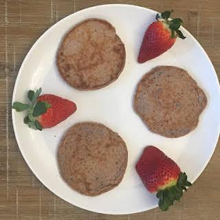 Oatmeal Banana Berry Pancakes.