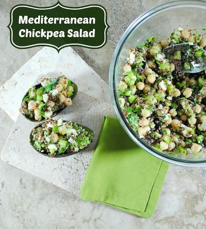 Mediterranean Garbanzo Bean Salad with Quinoa and Avocado Recipe ...