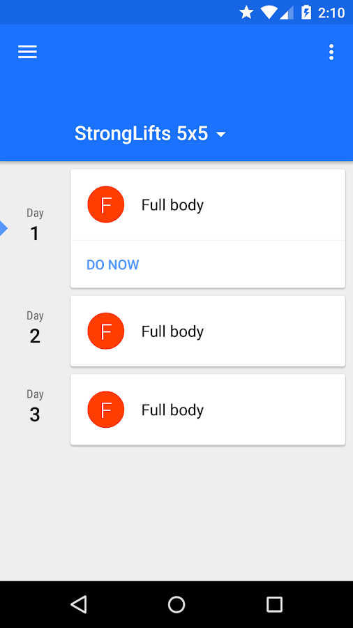 Progression - Fitness tracker- screenshot