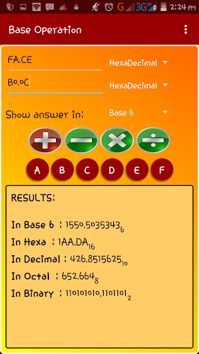 Base Converter with fraction