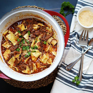 Beef Ragu with Pappardelle.