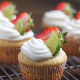 Strawberry Vanilla Cupcakes with Lime Icing Recipe