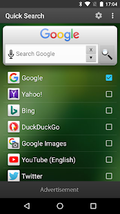 Quick Search Widget (free) - náhled