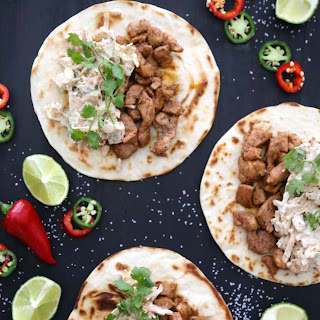 Pumpkin Spice Pork Tacos with Chipotle Slaw