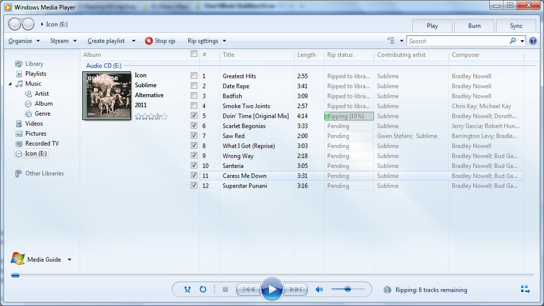 windows rip cd
