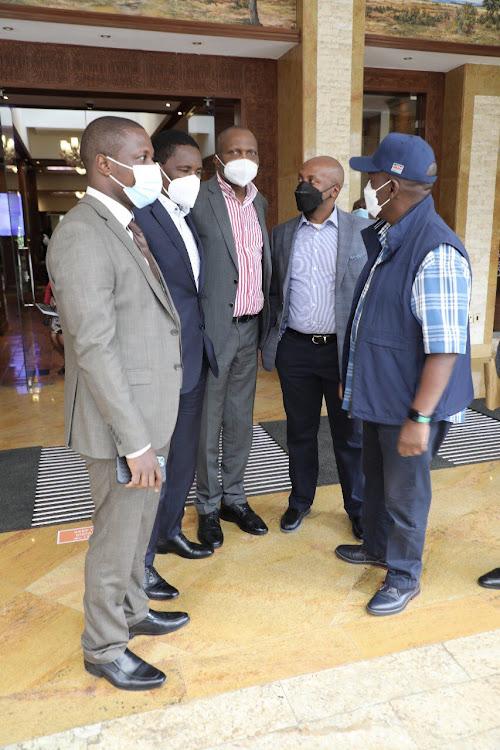 William Kabogo, Ndung'u Gethenji, Moses Kuria and Mwangi Kiunjuri during a Mt Kenya leaders meeting on September 13, 2021.