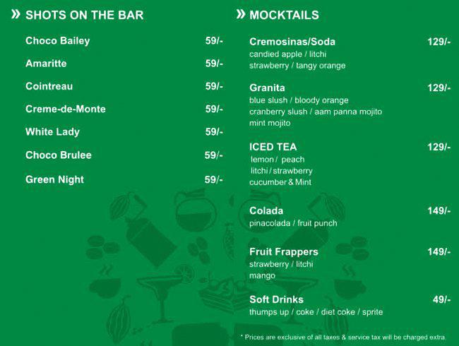 Australia's The Chocolate Room menu 15
