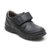 Geox William Hook and Loop School Shoe SCHOOL SHOE