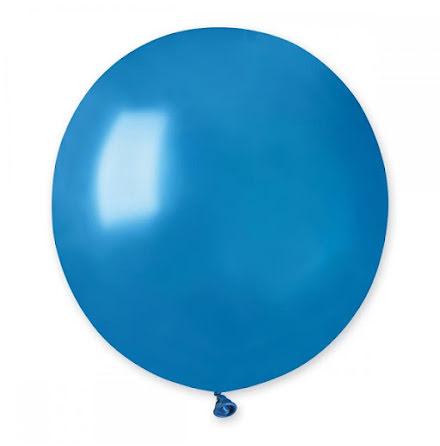 Ballonger helrunda 48 cm, blå metallic
