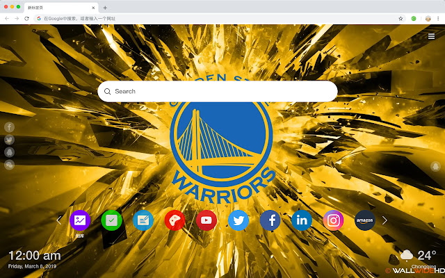 Golden State Warriors New Tab Theme HD