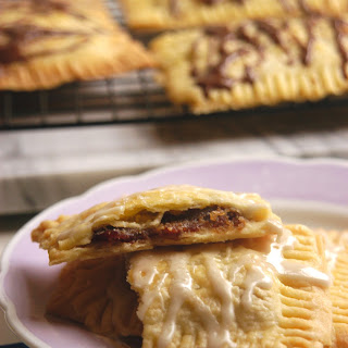 Bacon Jam Pop Tarts with Chocolate or Maple Glaze and Sea Salt.