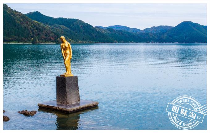 日本東北仙台五日遊田澤湖辰子之像