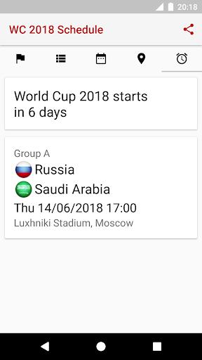 ud83cudfc6World Cup 2018 Schedule 2018.1.17 screenshots 7