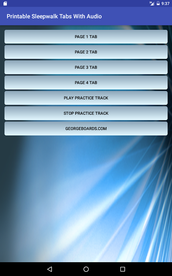 Printable Sleepwalk Tabs Audio- screenshot