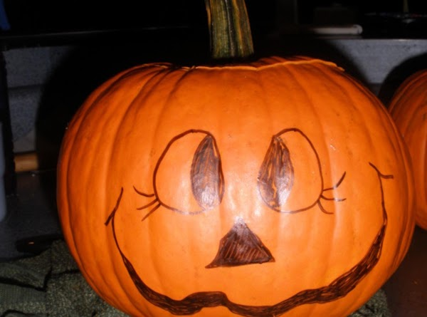 wash the outside of pumpkin. cut off top to the pumpkin being careful not...