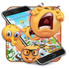 Emoji Cute Yellow Face Expression Theme icon