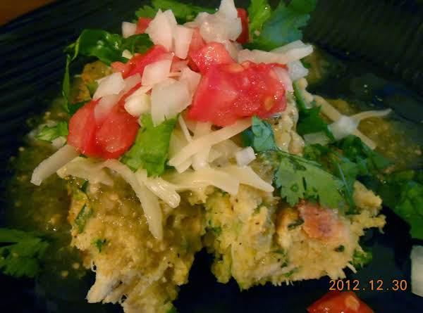 Green Enchilada Cornbread Casserole Recipe