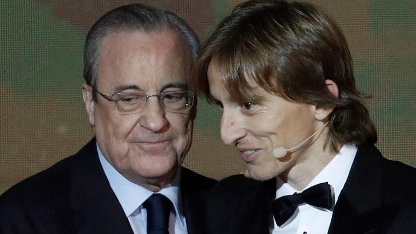 Presidente y jugador de gala.