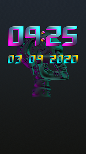 Download CYBERPUNK Digital Clock Widget MOD APK 2