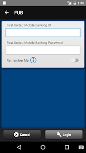 First United Bank Treasury App- screenshot thumbnail