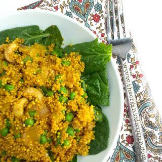 Super Spice Quinoa with Peas and Cashews.