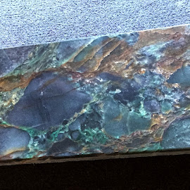The Cosmos in Stone Slab by Rich Havas - Abstract Patterns