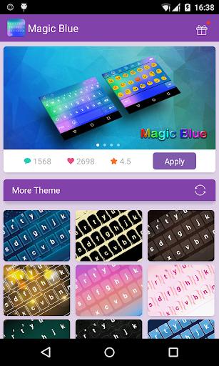 Emoji Keyboard-Magic Blue