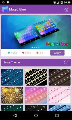 Emoji Keyboard-Magic Blue - screenshot