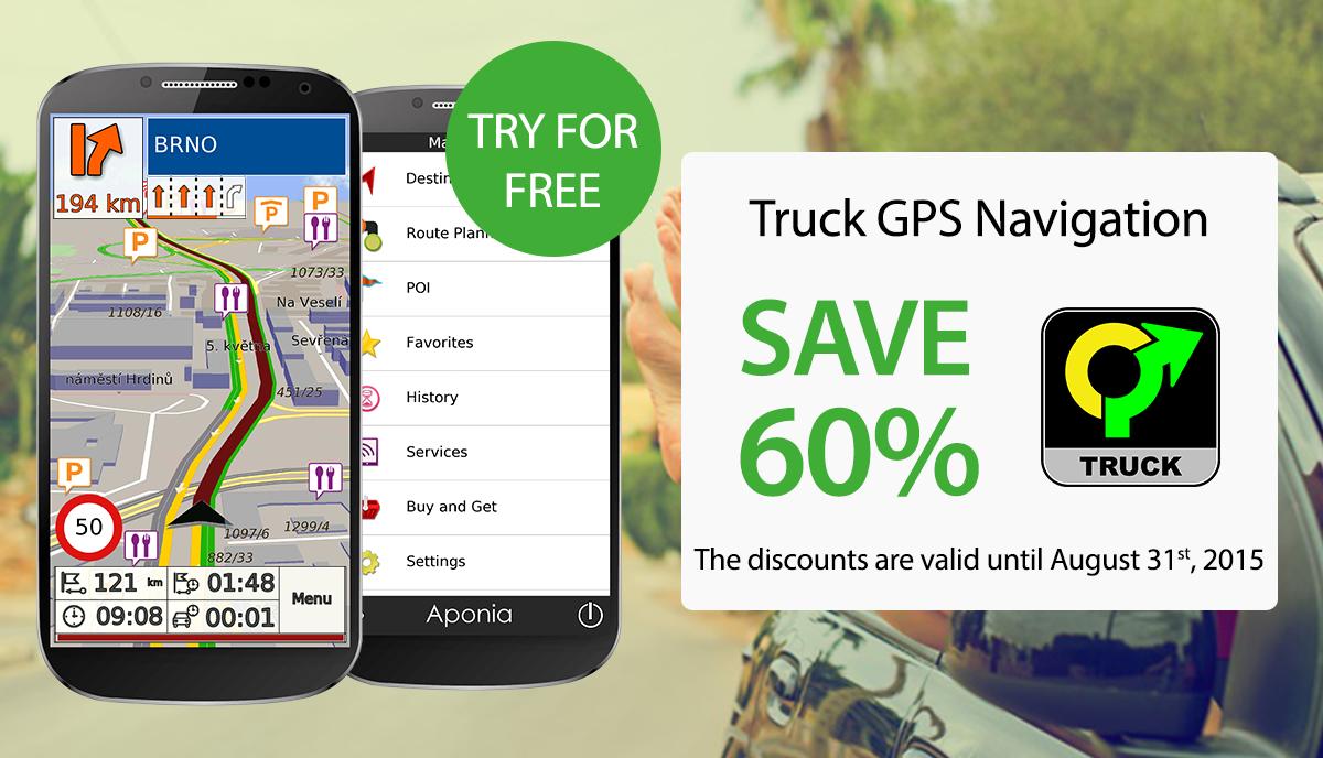 Truck GPS Navigation by Aponia- screenshot