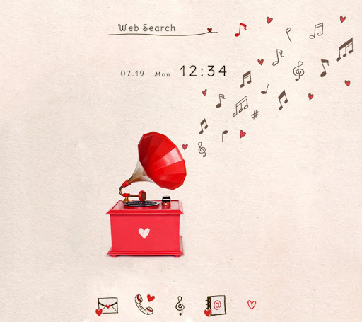 Wallpaper Love & Music Theme 1.0.0 Windows u7528 1