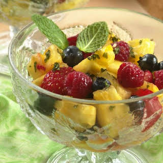 Pineapple-Berry Salad with Honey-Mint Dressing.