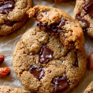 Maple Almond Butter Chocolate Chunk Cookies
