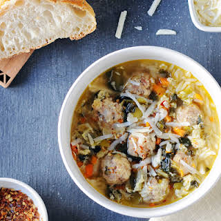 Italian Wedding Soup with Orzo & Meatballs.