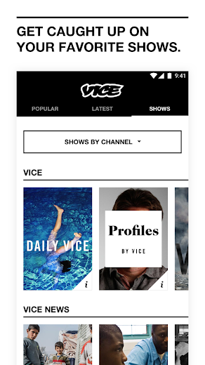 Screenshot 4 for VICE's Android app'